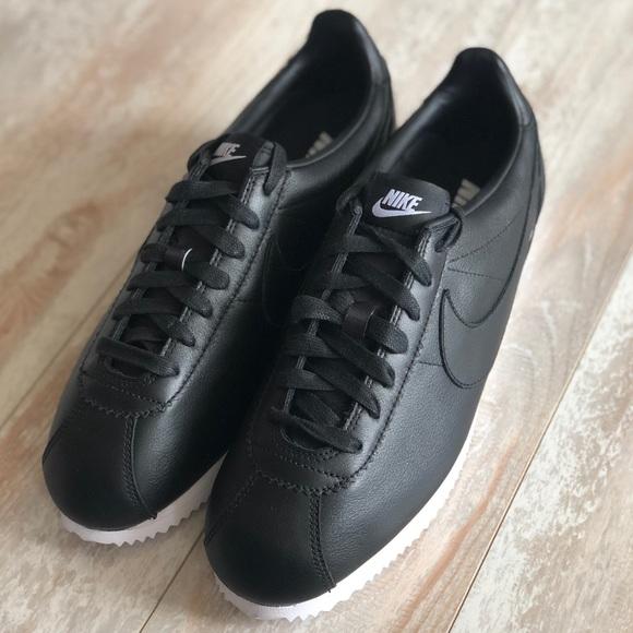 39704b58af78 NWT Nike ID Cortez Leather Custom Black